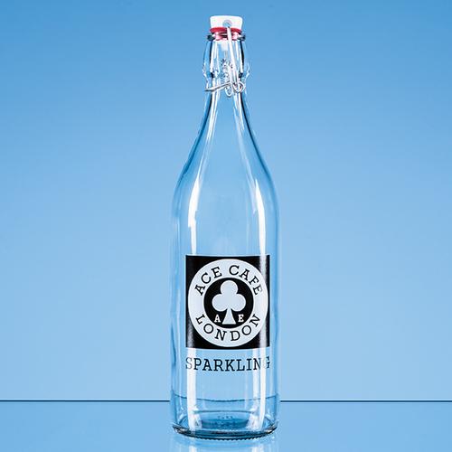 Round White Cap Swing Top Bottle - 1ltr