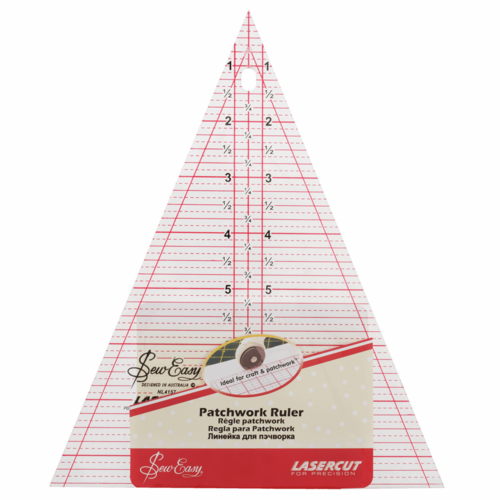 "Ruler Triangle 8.5 x 7"""