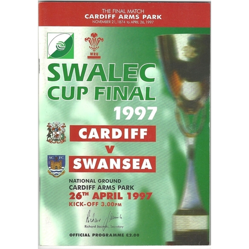 WRU Challenge Cup Final Rugby Union Programmes