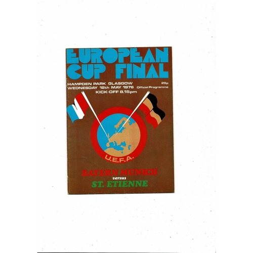 1976 Bayern Munich v St. Etienne European Cup Final Football Programme