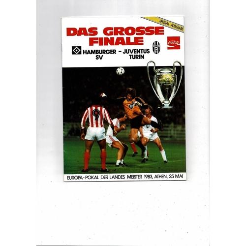 1983 Hamburg v Juventus European Cup Final Football Programme. Germany Edition