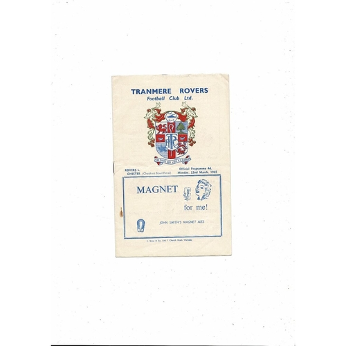 1964/65 Tranmere Rovers v Chester City Cheshire Bowl Final Football Programme