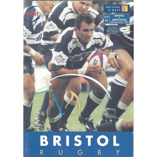 1997/98 Bristol v Newcastle Rugby Union Programme