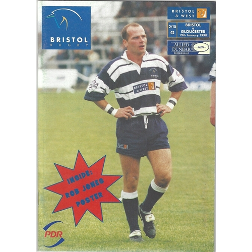Gloucester Away Rugby Union Programmes