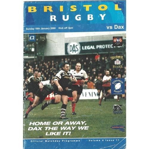Bristol/Bristol Shoguns Home Rugby Union Programmes