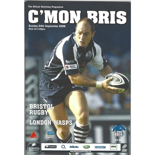 Wasps/London Wasps Away Rugby Union Programmes