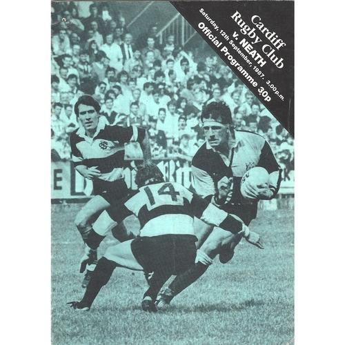 1987/88 Cardiff v Neath Rugby Union Programme