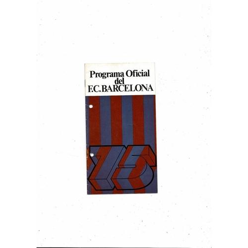 1974/75 Barcelona v Leeds United European Cup Semi Final Football Programme