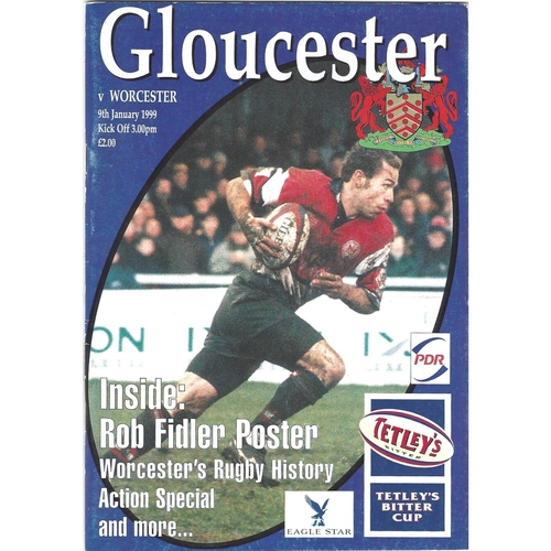 1998/99 Gloucester v Worcester Rugby Union Programme
