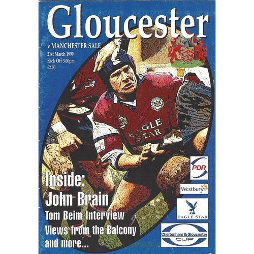 1998/99 Gloucester v Sale Rugby Union Programme