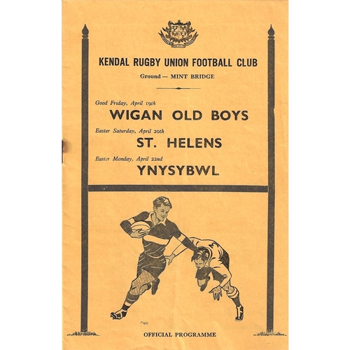 St. Helens Away Rugby Union Programmes
