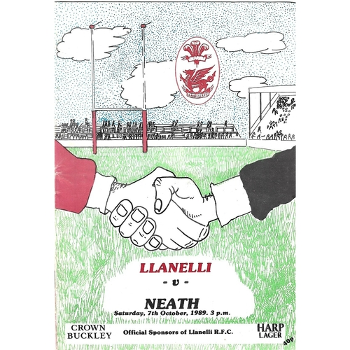 Llanelli Home Rugby Union Programmes