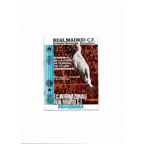 European Cup/Champions League Semi Final Football Programmes