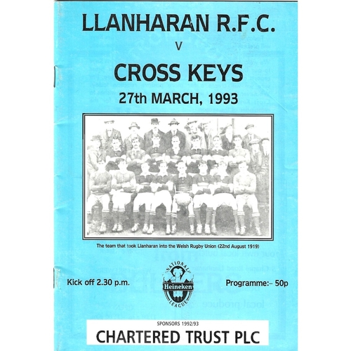 Llanharan Home Rugby Union Programmes