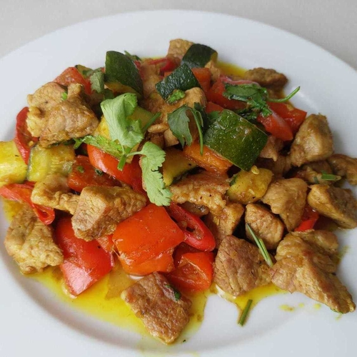 Tribal Pork and Veg Stir Fry
