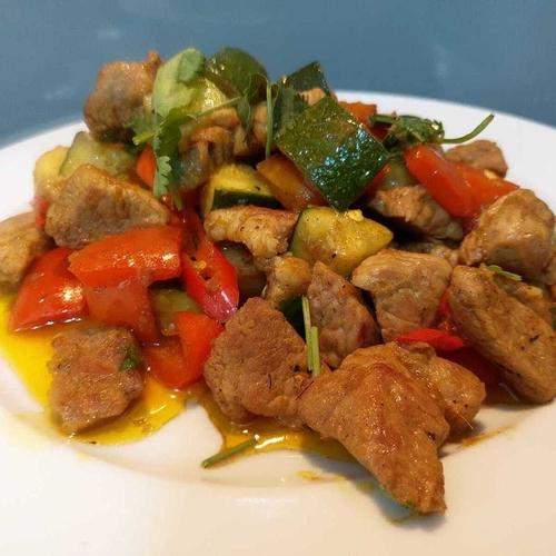 Tribal Pork and Veg Stir Fry