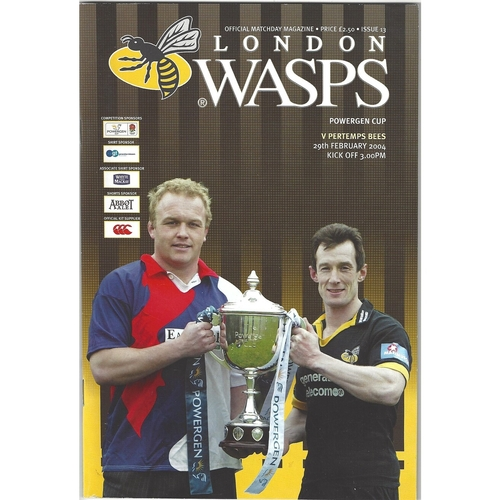 Wasps/London Wasps Home Rugby Union Programmes