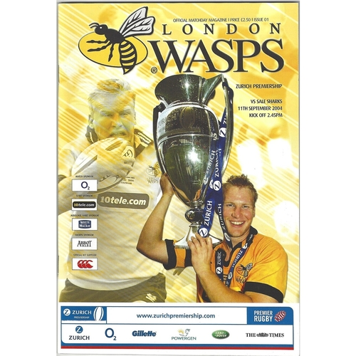 2004/05 London Wasps v Sale Sharks Rugby Union Programme