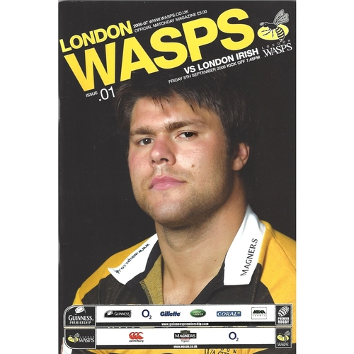 2006/07 London Wasps v London Irish Rugby Union Programme