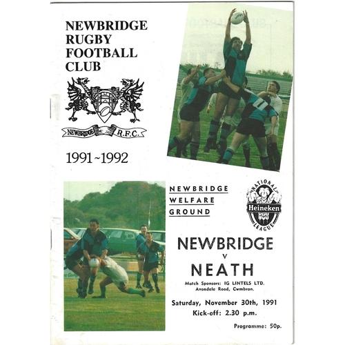 Newbridge Home Rugby Union Programmes