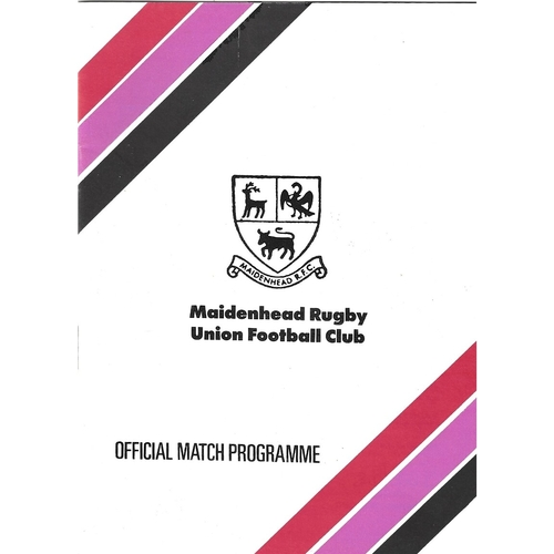 Cheltenham Away Rugby Union Programmes