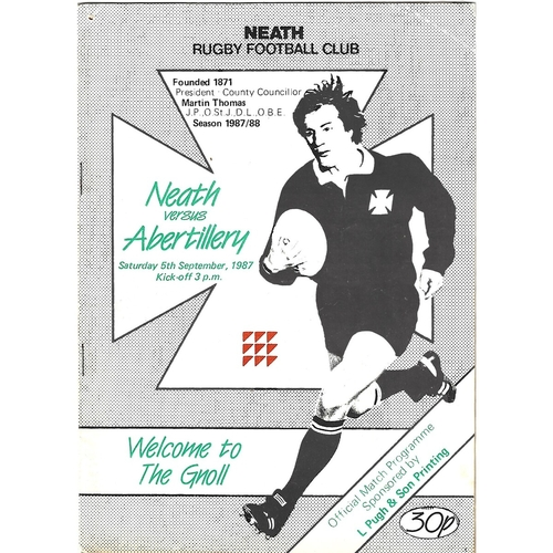 Albertillery Away Rugby Union Programmes