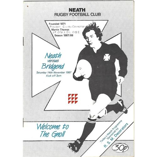 Bridgend Away Rugby Union Programmes