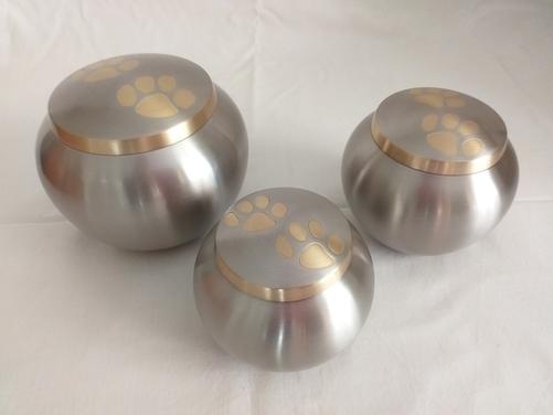 Brass Paw Print Urn