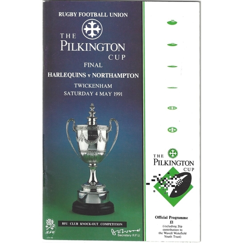 1991 Harlequins v Northampton Pilkington Cup Final Rugby Union Programme