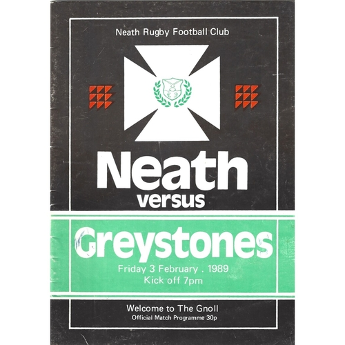 Greystones Away Rugby Union Programmes