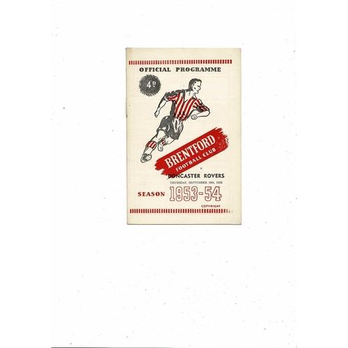 1953/54 Brentford v Doncaster Rovers Football Programme
