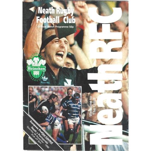 Pontypridd Away Rugby Union Programmes