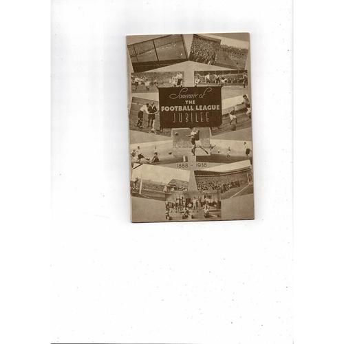 1938/39 Aston Villa v West Bromwich Albion Jubilee Edition Football Programme