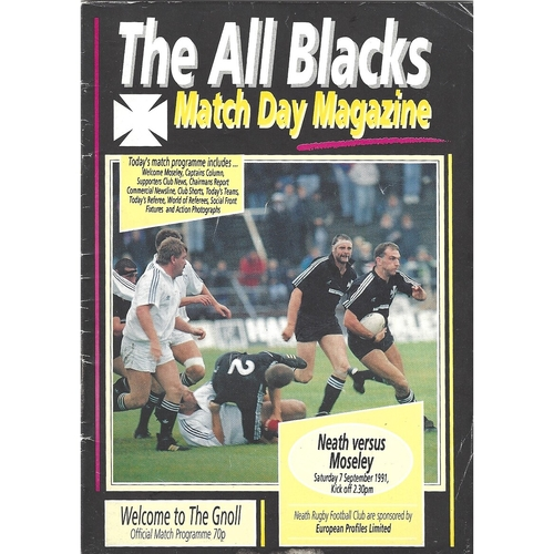 Moseley Away Rugby Union Programmes