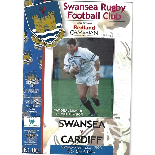 Cardiff/Cardiff Blues Away Rugby Union Programmes