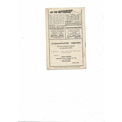 1954/55 Brentford v Swindon Town Football Programme