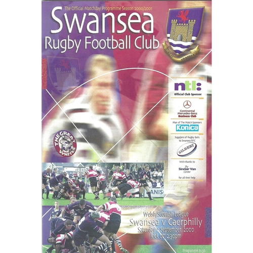 Caerphilly Away Rugby Union Programmes
