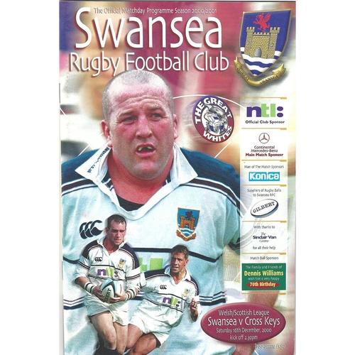 Cross Keys Away Rugby Union Programmes