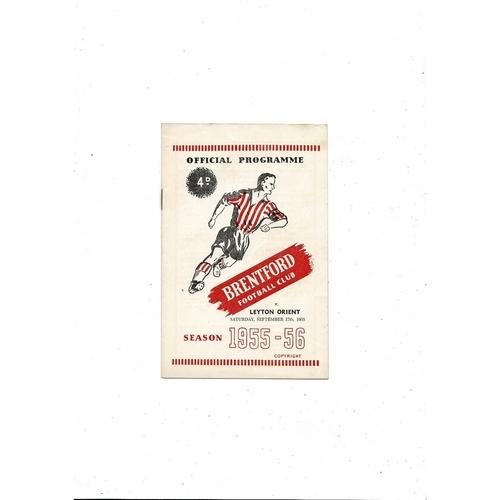 1955/56 Brentford v Leyton Orient Football Programme