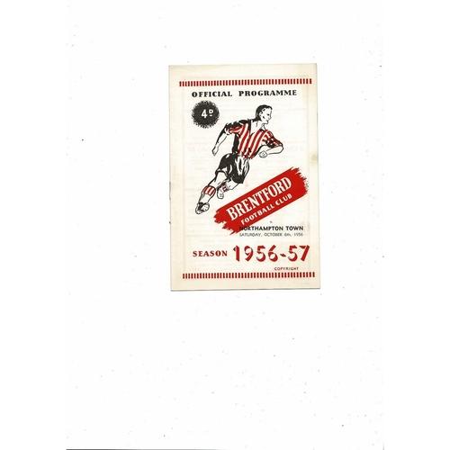 1956/57 Brentford v Northampton Town Football Programme