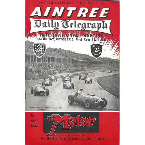 1954 Aintree Daily Telegraph International Meeting (02/10/1954) motor racing programme