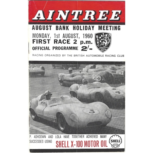 Aintree Motor Racing Programmes