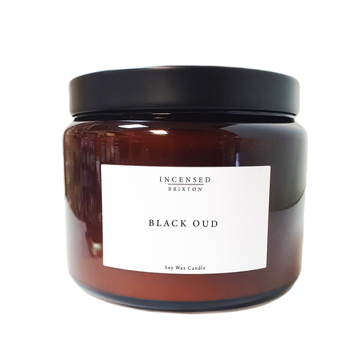 Black Oud Scented Candle (3 Wick)