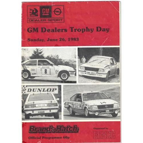 1983 Brands Hatch GM Dealers Trophy Day (26/06/1983) motor racing programme