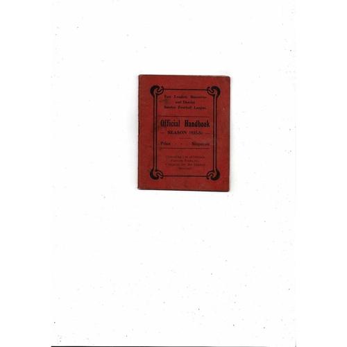 1935/36 East London Becontree District Sunday League Official Football Handbook