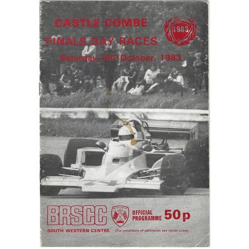 1983 Castle Combe Finals Day Races (08/10/1983) motor racing programme