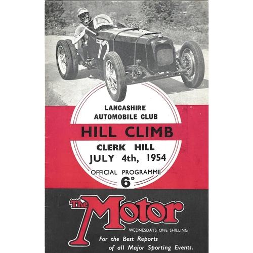 Clerk Hill Motor Racing Programmes