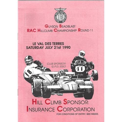 Le Val Des Terres Motor Racing Programmes