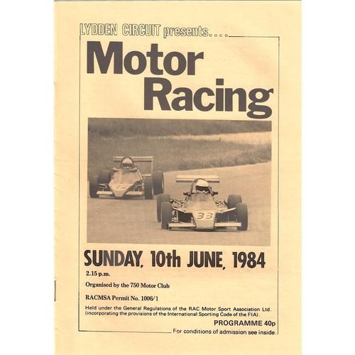 Lydden Motor Racing Programmes