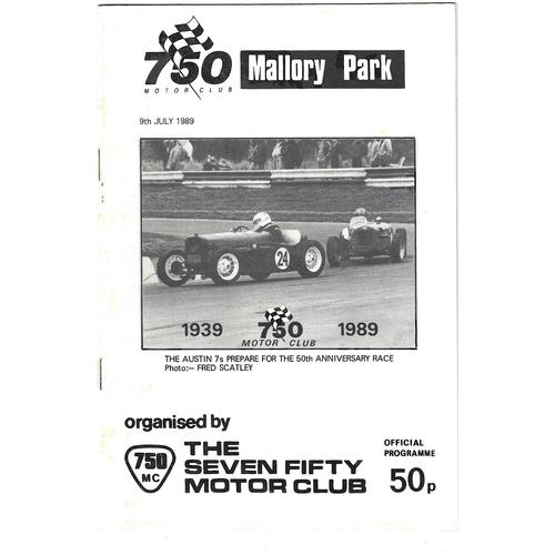 Mallory Park Motor Racing Programmes